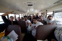 This year Justice for Kenny Coalition fundraised to rent a bus to bring New York City supporters to and from Long Island. In just two weeks time, the bus was completely filled, Annual Anti-Police Brutality March in Long Island, April 12th, 2014, Bay Shore, New York.