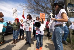 Family members & supporters at the Annual Anti-Police Brutality March in Long Island, April 12th, 2014, Bay Shore, New York.
