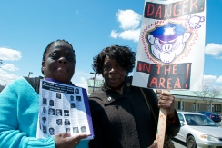 Juanita Young, mother of Malcolm Ferguson (killed by law enforcement), and Allene Person, mother of Timur Person (killed by law enforcement). Annual Anti-Police Brutality March in Long Island, NY, Bay Shore, April 13th, 2013.